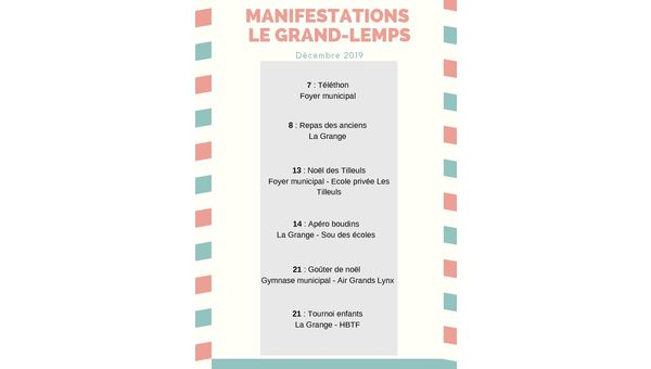 Manifestations Le Grand-Lemps - décembre 2019